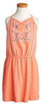 Roxy Girl's Nice Cream Embroidered Dress