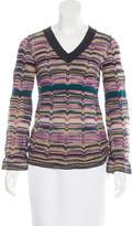 M Missoni Wool Metallic Top
