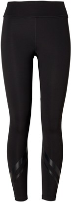 Tory Burch High-Rise Compression Side-Pocket Chevron Leggings