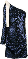 MSGM sequin one shoulder dress - women - Polyester/Spandex/Elastane - 42
