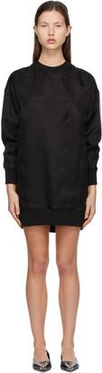 Alexander McQueen Black Organza Overlay Sweatshirt Dress
