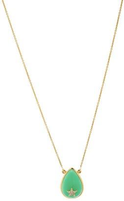 Nush Tear Drop Diamond Star Necklace