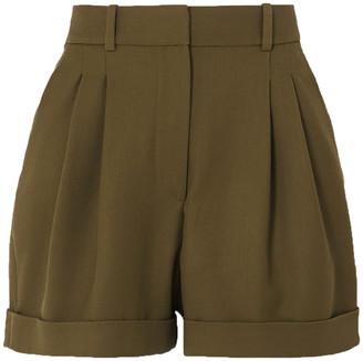 Racil City Pleated Wool-twill Shorts