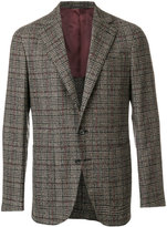 Caruso check blazer - men - Cotton/Nylon/Cupro/Bemberg - 50