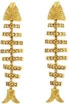 Oscar de la Renta Pavé Fish Earrings