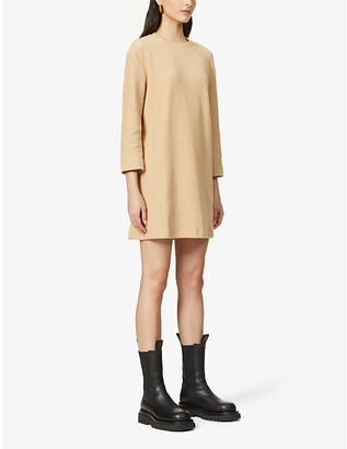 Reformation Channing scoop-neck organic cotton-knit mini dress