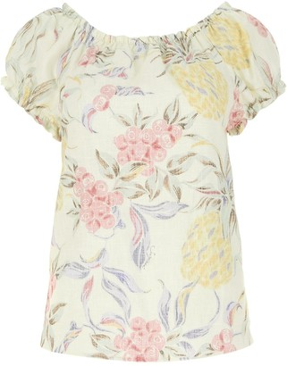 See by Chloe Spring Fruits Off-Shoulder Blouse