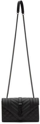 Saint Laurent Black Small Quilted Envelope Bag