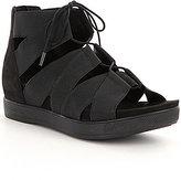 Eileen Fisher Link Lace Up Heel Zipper Sandals
