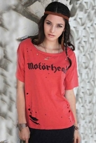 Chaser LA Motorhead Destroyed Boxy Tee in Pigment Red