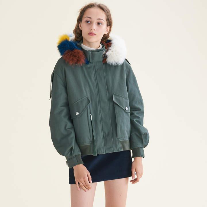Maje Jacket with multicoloured fur