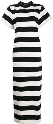 Alexander Wang striped maxi dress
