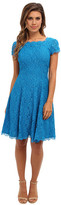 Adrianna Papell Cap Sleeve Flare Dress