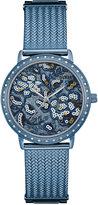 GUESS Women's Willow Sky Blue Stainless Steel Bracelet Watch 35mm U0822L3