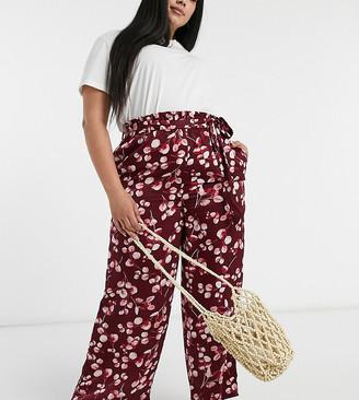 Simply Be satin pants in print