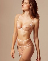 Agent Provocateur Lorna Suspender Nude And White