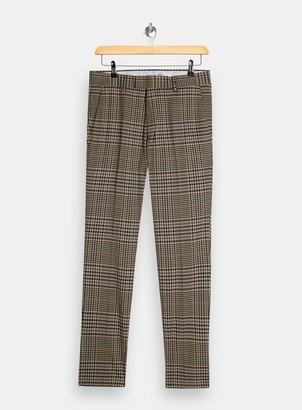 Topman Multi Skinny Heritage Check Trousers