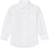 Il Gufo White Long Sleeve Linen Shirt