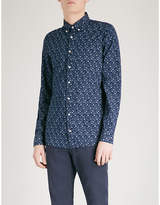 Tommy Hilfiger Floral-print Slim-fit Cotton Shirt