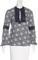 Tory Burch Lace-Trimmed Floral Print Tunic