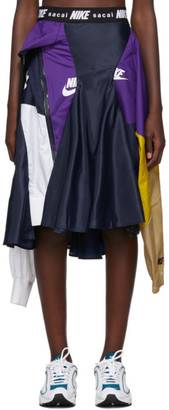 Nike Navy and Purple Sacai Edition W NRG Ga NI-03 Skirt