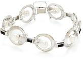 Mikimoto Onyx, Pearl, & White Gold Open Circle Bracelet