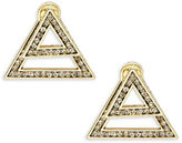 House Of Harlow Hour Angular Front Back Earrings