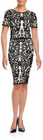 Lucy Paris Knit Jacquard Pencil Skirt
