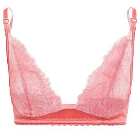 Stella McCartney Gigi Giggling Chantilly Lace And Stretch-silk Satin Soft-cup Triangle Bra
