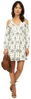 Brigitte Bailey Sonic Embroidered Cold Shoulder Dress