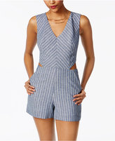 XOXO Juniors' Striped Side-Cutout Romper