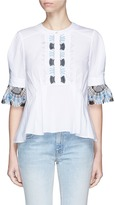 Peter Pilotto Guipure lace pleated blouse
