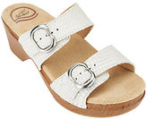 Dansko As Is Leather Slide Sandals with Double Adj. Straps - Sophie