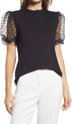 Gibson Piccadilly Puff Sleeve Top