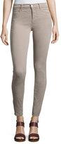 J Brand Jeans Maria High-Rise Sateen Super Skinny Pants, Light Gray