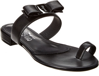 Salvatore Ferragamo Louisa Leather Sandal