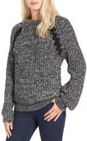 J.o.a. Chunky Lace-Up Detail Sweater