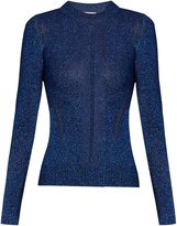 Christopher Kane Long-sleeved metallic sweater