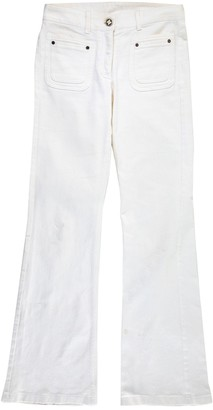 Celine White Cotton Trousers