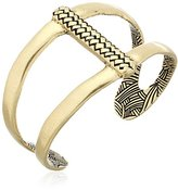 The Sak Woven Open Gold Cuff Bracelet