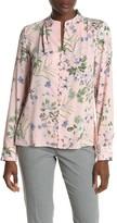 Calvin Klein Long Sleeve Button Front Blouse