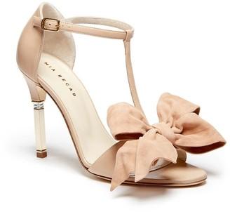 Mia Becar Alessandra Sandal 105 T-Strap In Beige