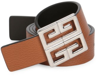 Givenchy Big Reversible Smooth Leather Belt