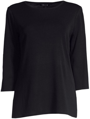Misook Three-Quarter Sleeve Top