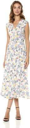 Anne Klein Women's Linen Seamed MIDI Dress