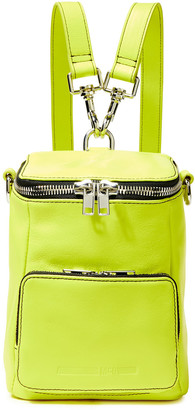 McQ Convertible Neon Leather Backpack