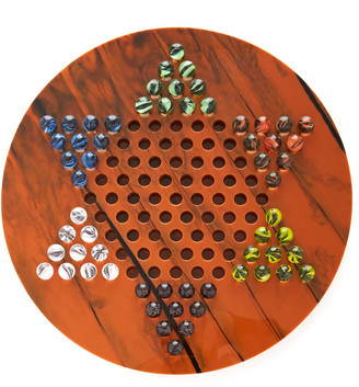 Edie Parker Chinese Checkers Acrylic Set