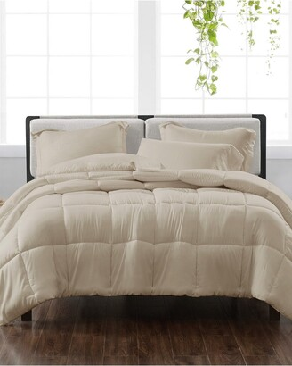 Cannon Solid Khaki 3Pc Comforter Set