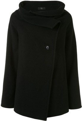 Yohji Yamamoto Pre Owned Funnel Neck Off-Centre Fastening Coat