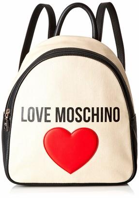 Love Moschino Borsa Canvas E Pebble Pu Womens Shoulder Bag